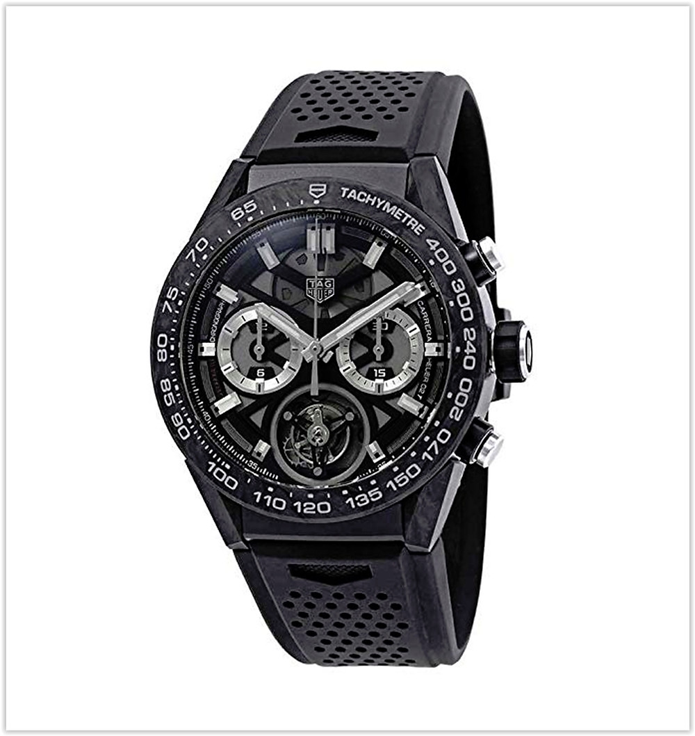 TAG Heuer Carrera 02T Tourbillon Chronograph Automatic Black Dial Mens Watch best price