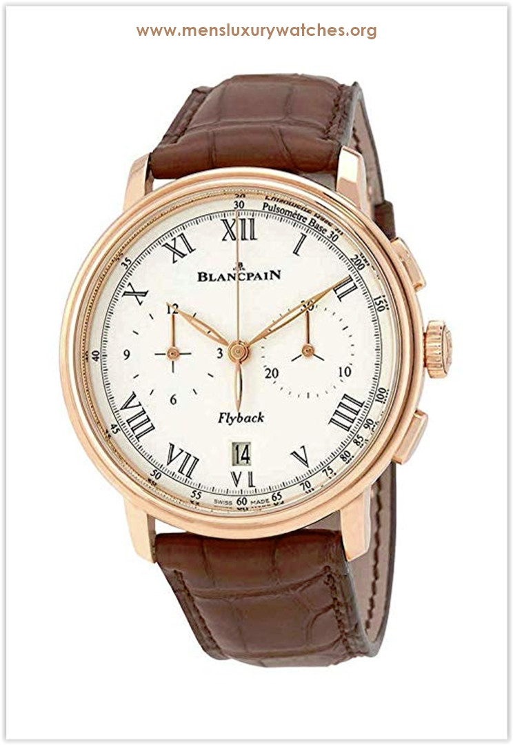 Blancpain Chronograph Flyback Pulsometer White Dial Brown Leather Men's Watch Price