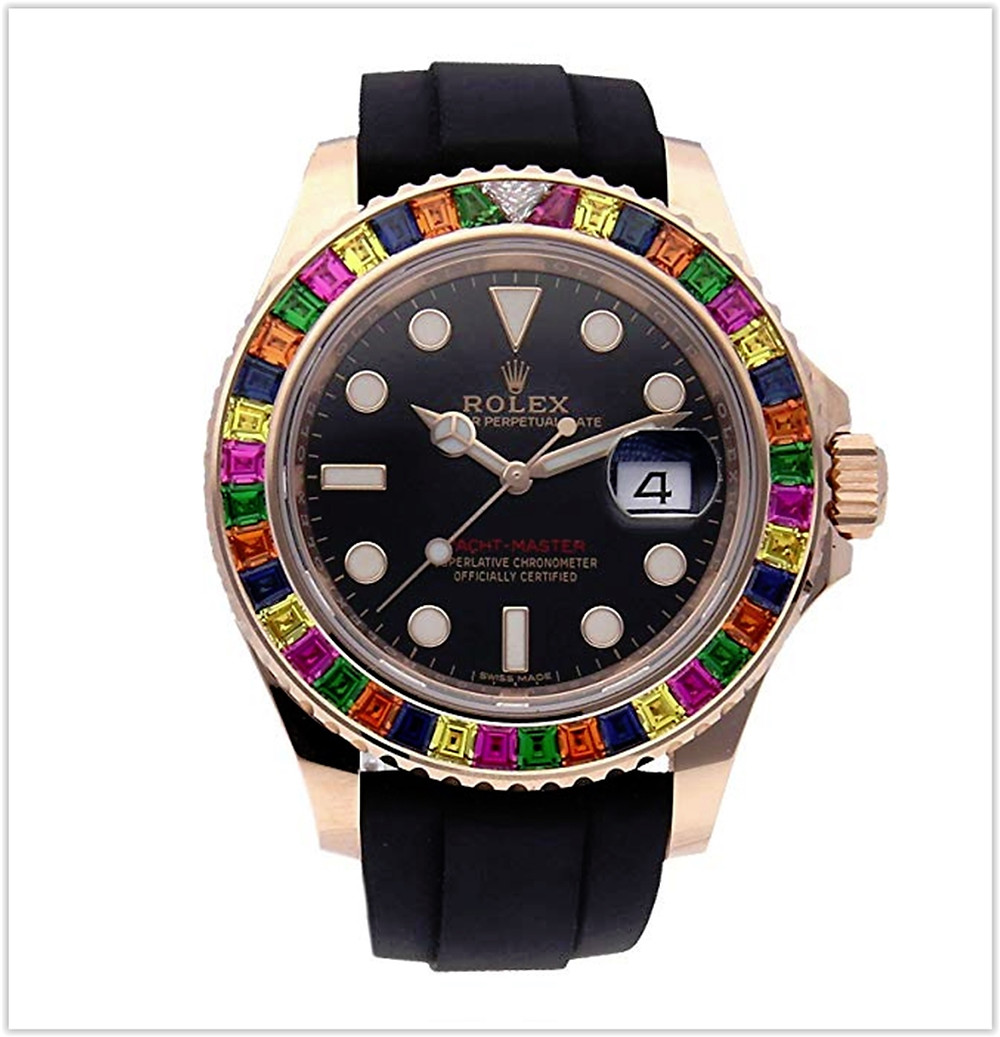 Rolex Yacht-Master Mechanical (Automatic) Black Dial Mens Watch 116695SATS best price