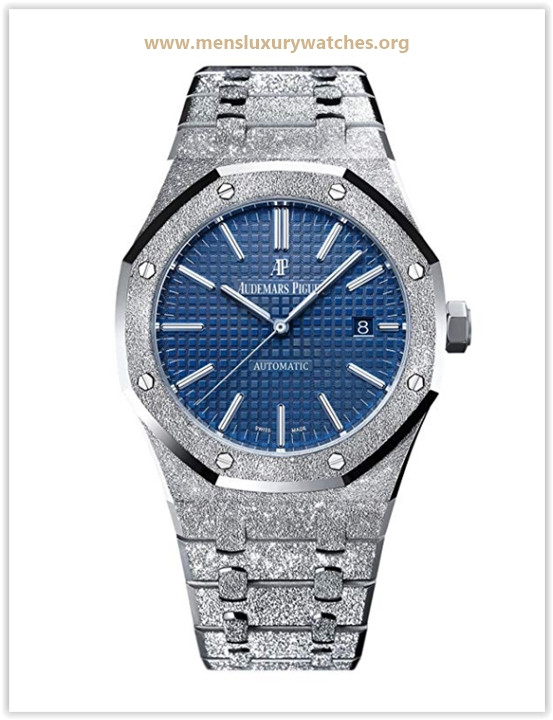 Audemars Piguet Royal Oak 41 Frosted White Gold Blue Dial Limited Edition of 200 Price May 2019