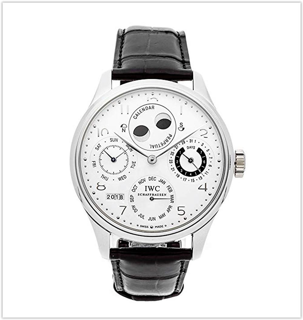 IWC Portugieser Mechanical Silver Dial Men's luxury  Watch best price