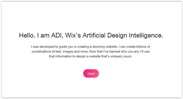 How to create a website with Wix ADI