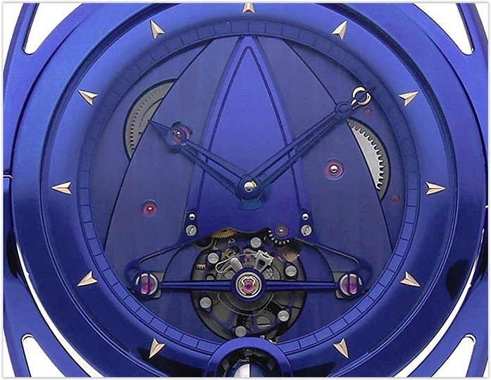 De BethuneMechanicalBlue Dial Men's Watch