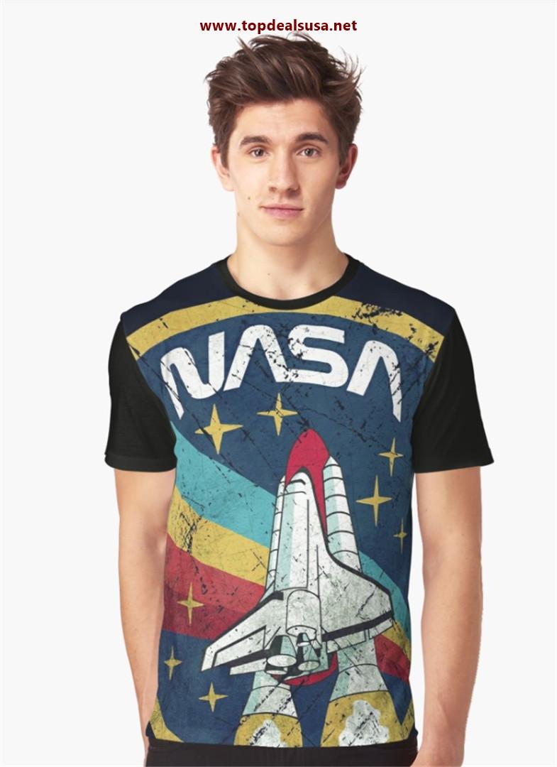 Nasa Vintage Colors V01 Graphic T-Shirt best buy
