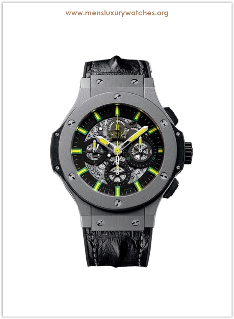 Hublot Oscar Niemeyer Skeleton Dial Black Leather Men's Watch Price