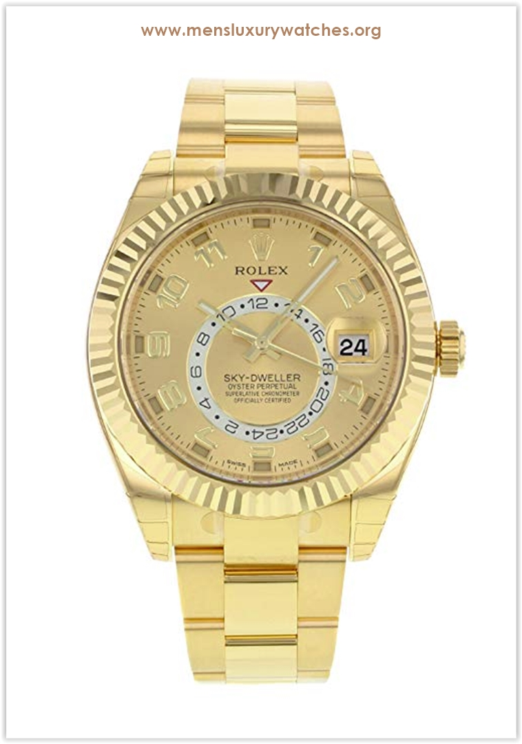 Rolex Sky-Dweller 18K Yellow Gold Men's