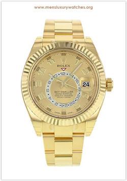Rolex Sky-Dweller 18K Yellow Gold Men's