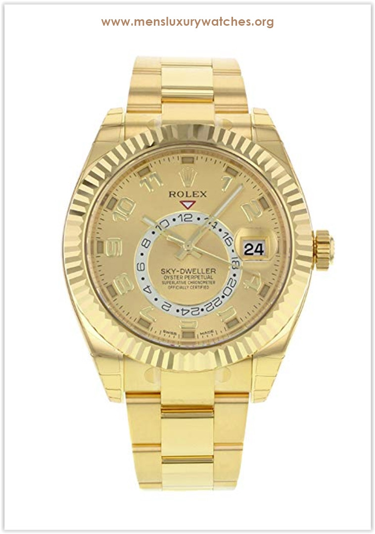 Rolex Sky-Dweller 18K Yellow Gold Men's Watch Price