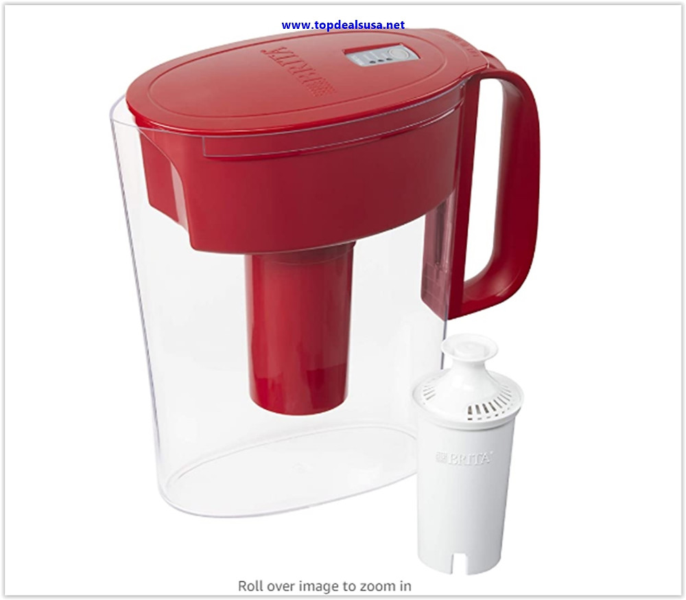Best Buy Brita Metro Pitcher with 1 Filter, 5 Cup, Red