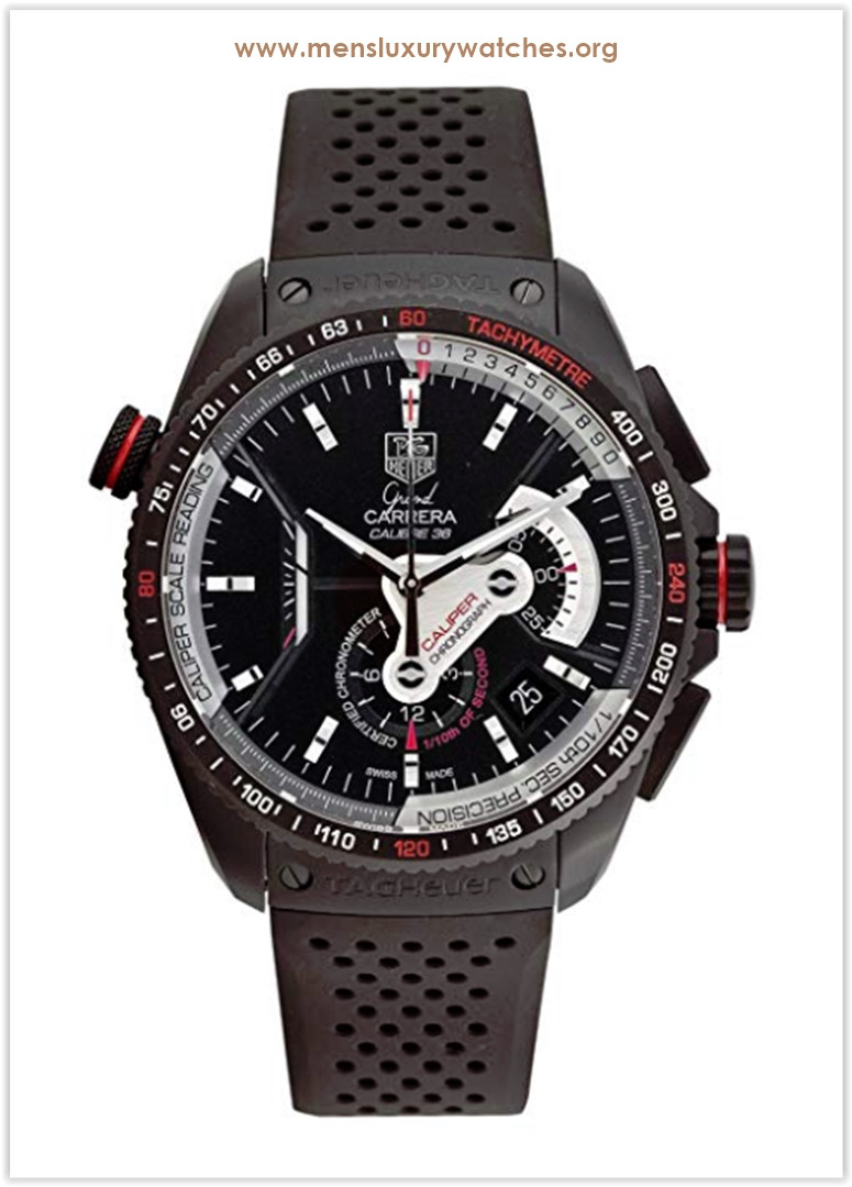 TAG Heuer Grand Carrera Automatic Chronograph Black Dial Men's Watch Price