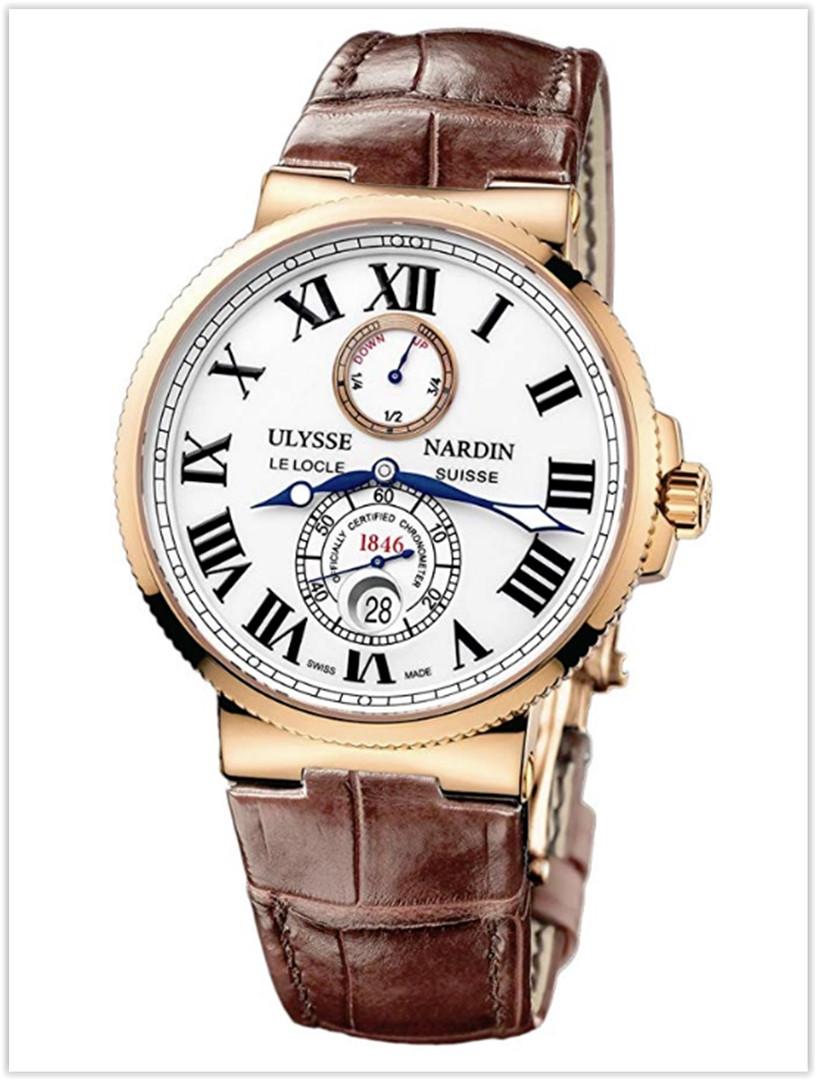 ULYSSE NARDIN MARINE CHRONOMETER 18K ROSE GOLD 43MM Men's WATCH price