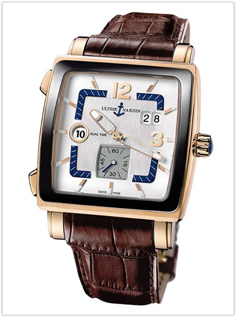 Ulysse Nardin Quadrato Dual Time Rose Gold Men's Watch Price