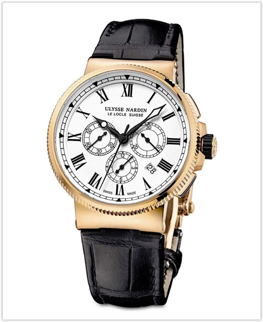 Ulysse Nardin Marine Chronograph Manufacture 18k Rose Gold 43mm Limited Edition New Men's Watch best price