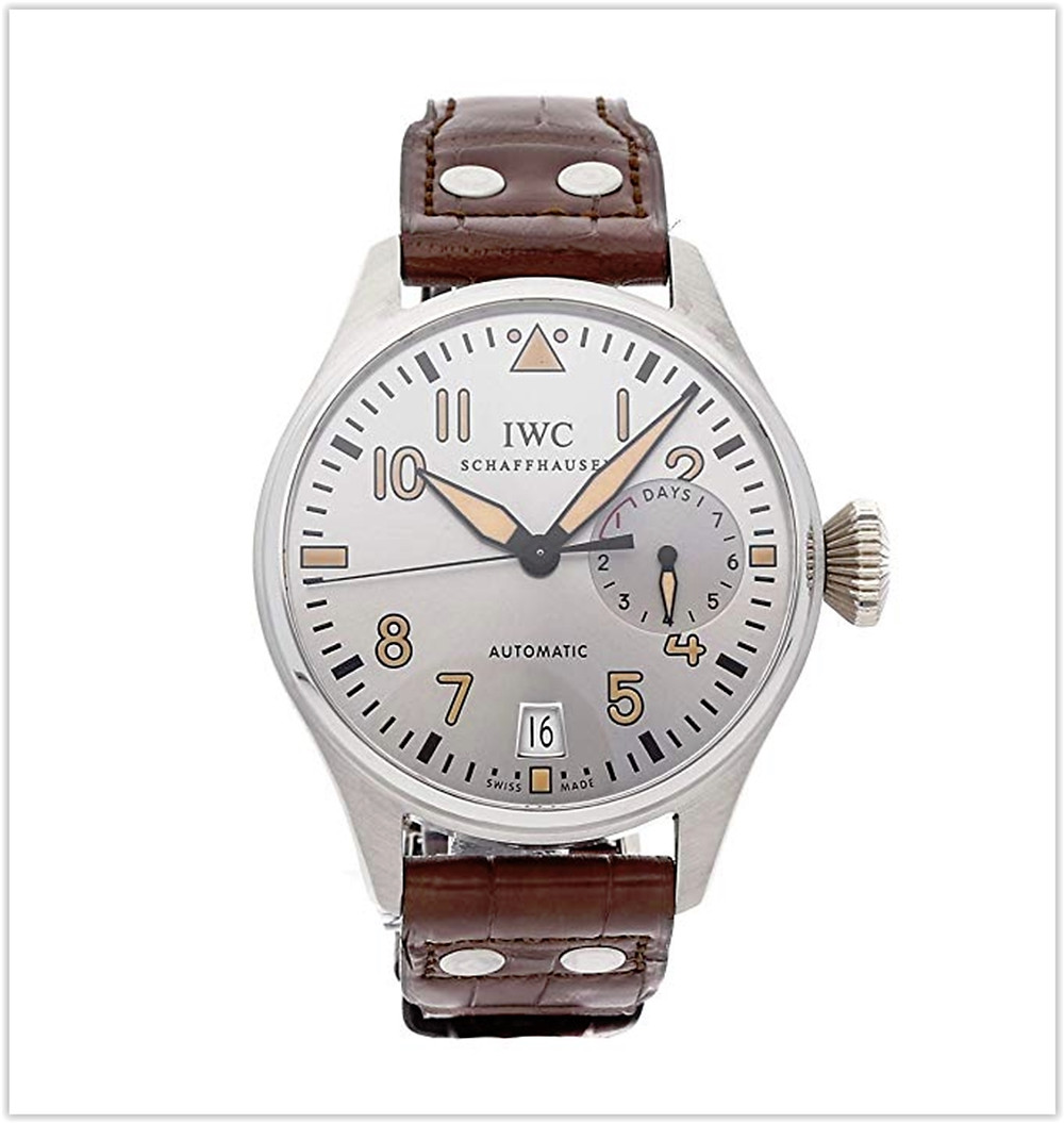 IWC Pilot Mechanical (Automatic) Silver Dial Men's Watch best price