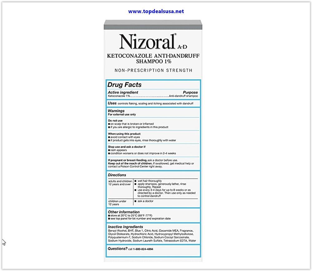 Nizoral A-D Anti-Dandruff Shampoo Deals