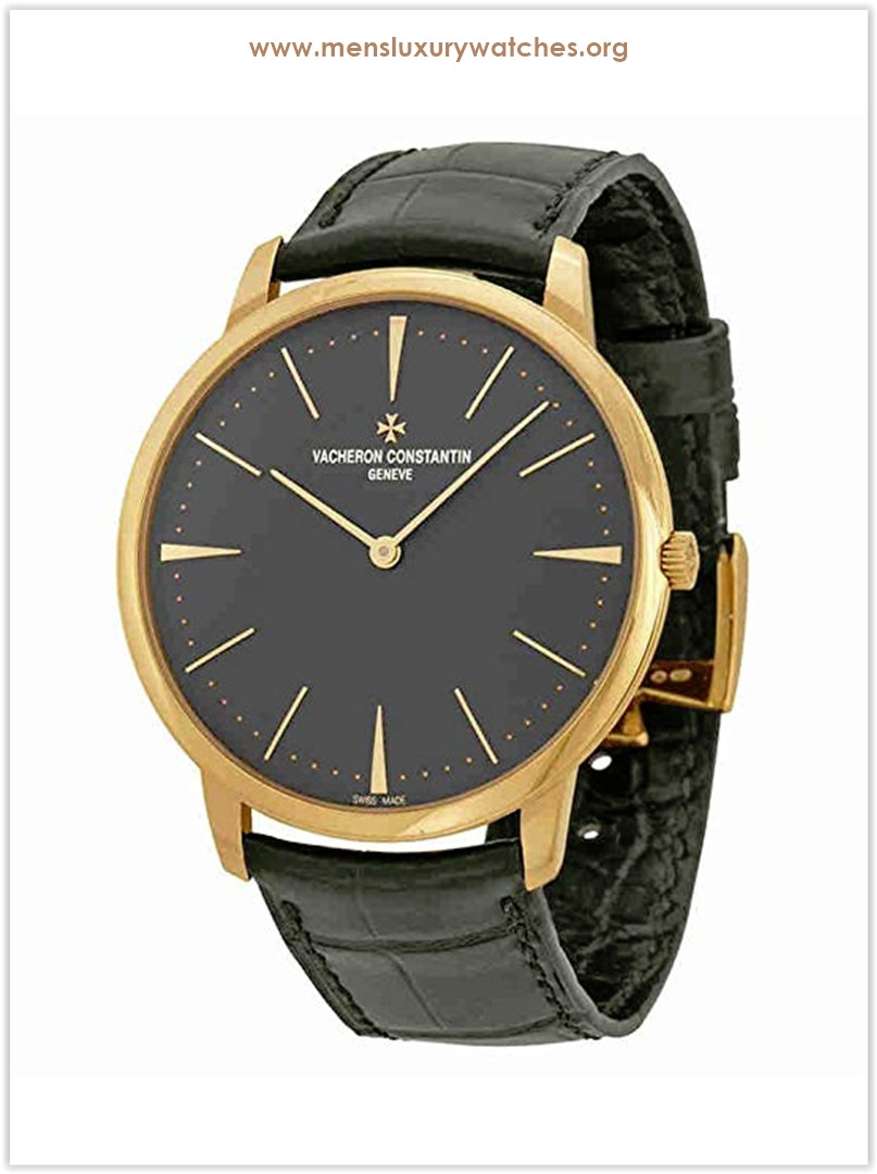 Vacheron Constantin Patrimony Grey Dial 18k Pink Gold Manual Men's Watch Price