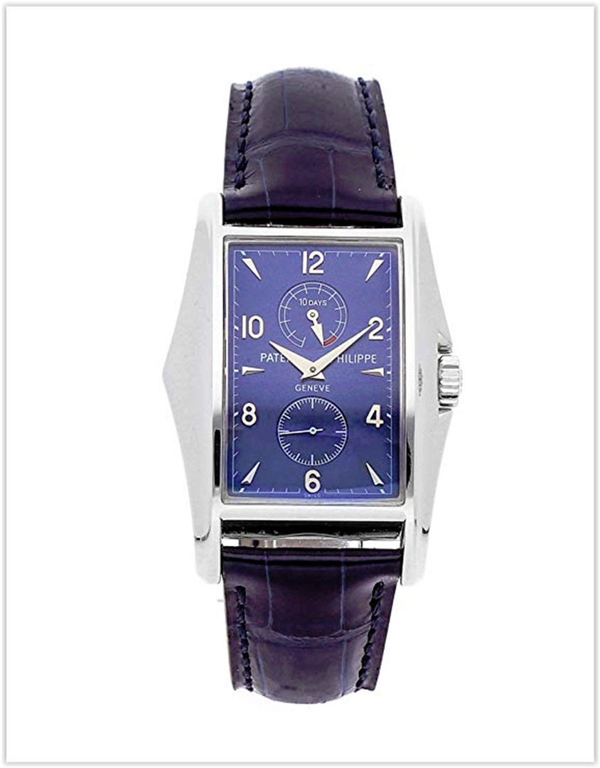 Patek Philippe Gondolo Mechanical (Hand-Winding) Blue Dial Men's Watch 5100G best price