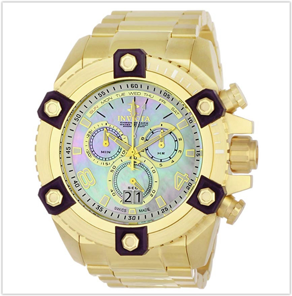 Invicta Men's 0341 Reserve Collection Arsenal Chronograph 18k Gold-Plated Watch