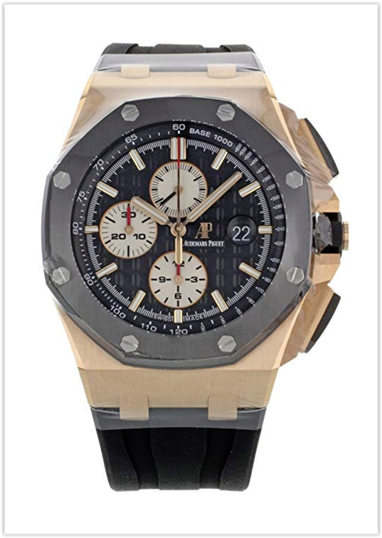 Audemars Piguet Rose Gold and Ceramic 44 Offshore Chronograph Men's Watch Price