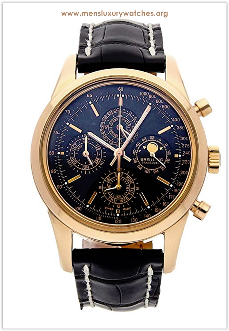Breitling Transocean Mechanical Black Dial Men's Watch Price