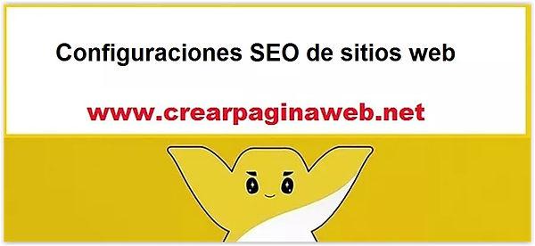 Configuraciones SEO de sitios web