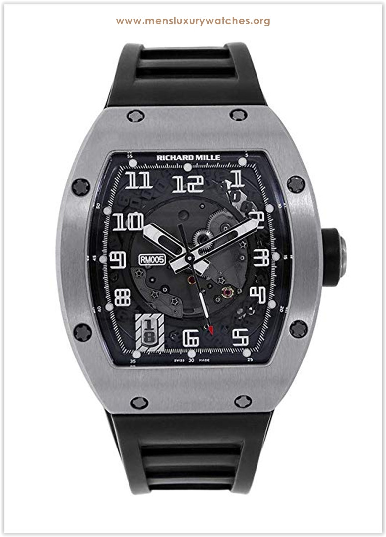 Richard Mille 18K White Gold Skeletonised Automatic Watch RM010