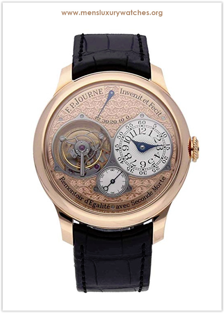 F.P. Journe Souverain Mechanical (Hand-Winding) Rose Dial Tourbillon Souverain Men's Watch Price