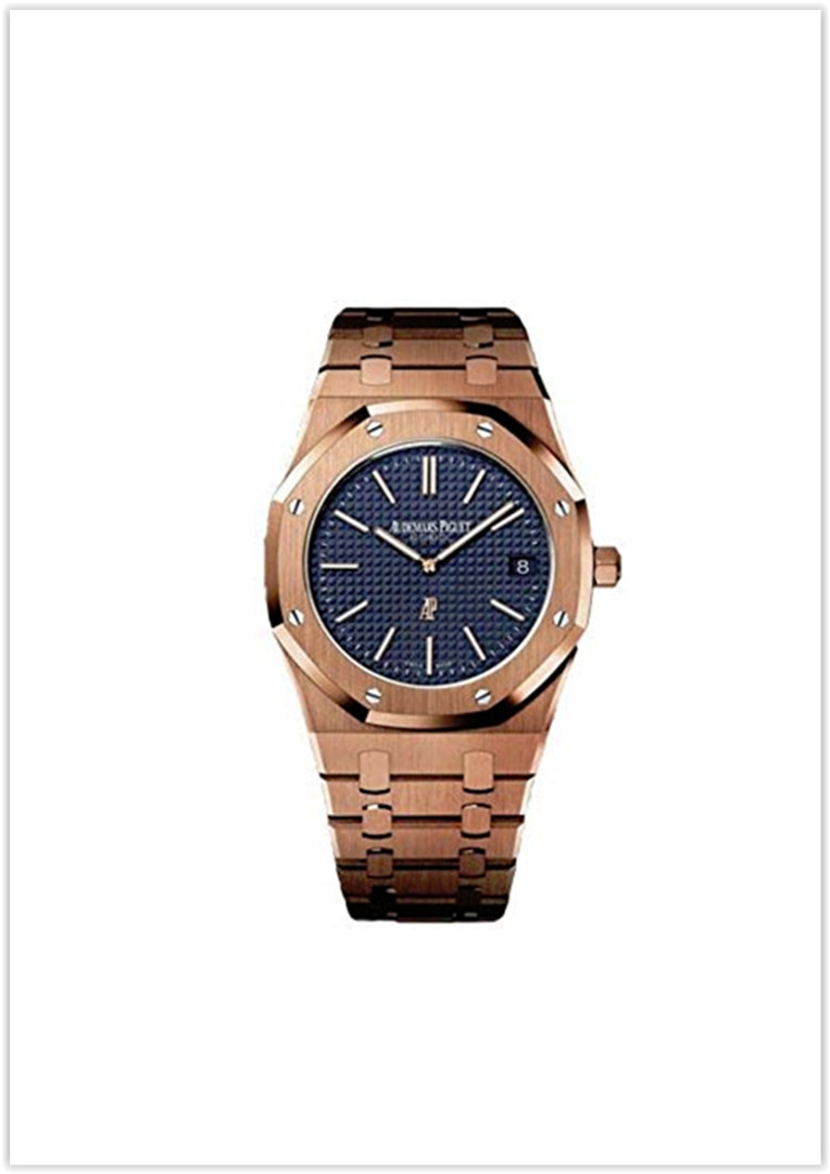 Audemars Piguet Extra-Thin Royal Oak Automatic Blue Dial 18 kt Rose Gold Men's Watch price