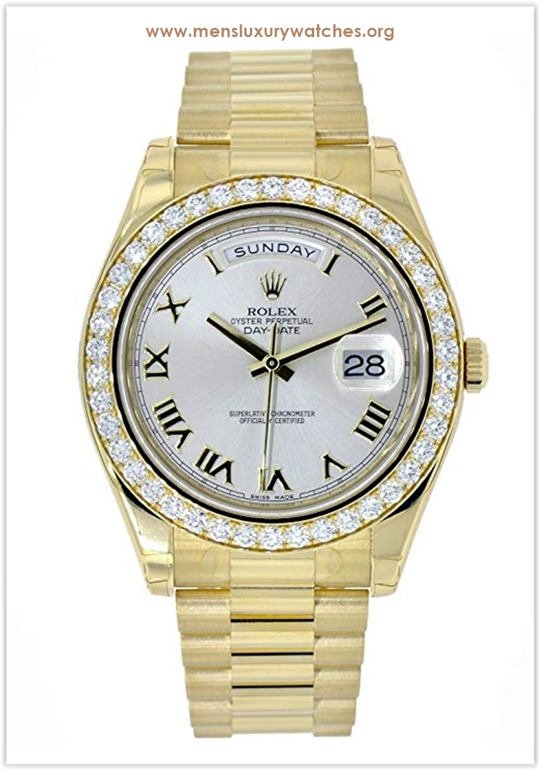 Rolex Day-Date II Yellow Gold Diamond Be