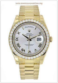 Rolex Day-Date II Yellow Gold Diamond Be