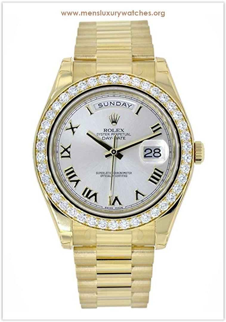 Rolex Day-Date II Yellow Gold Diamond Bezel Men's Watch Price