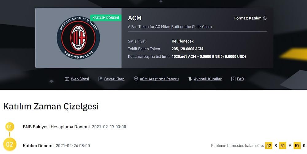 Binance ve Chiliz sunar, ACM Milan token listeleniyor işte detaylar( Nasıl satın alınır)