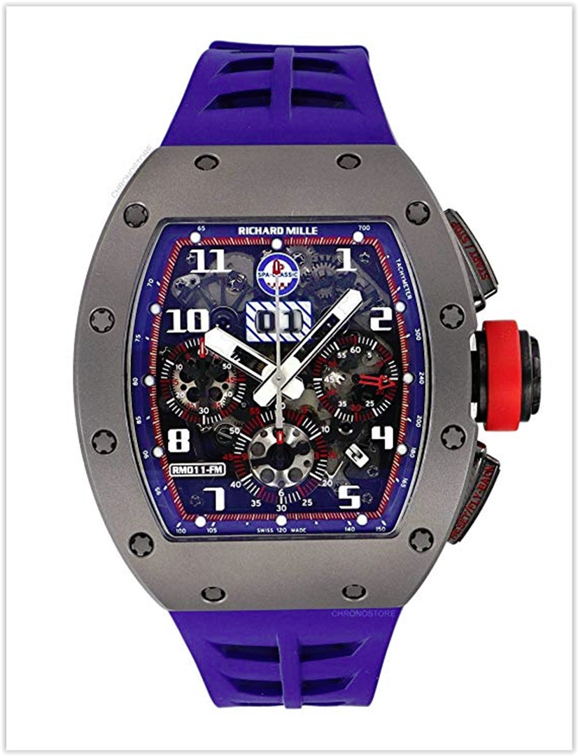 Richard Mille RM 011 Spa Limited Edition Titanium Blue Rubber Automatic Men's Watch Price