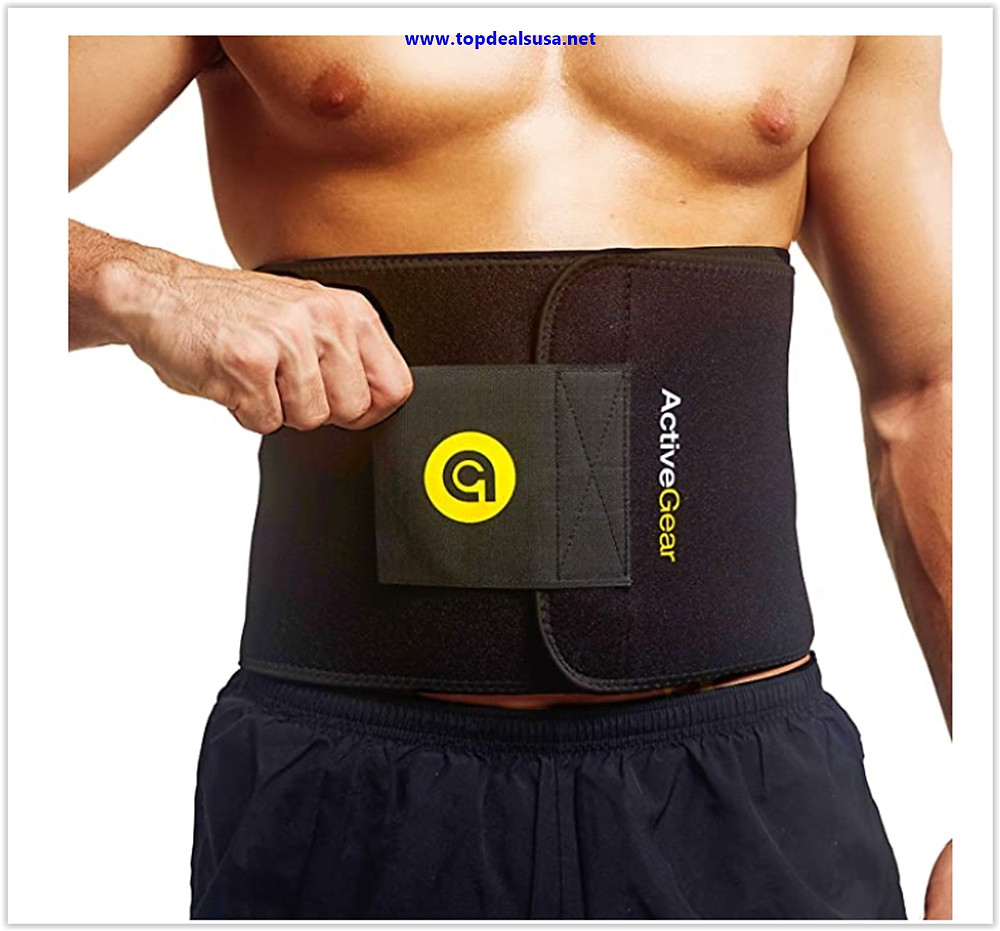Best buy ActiveGear Waist Trimmer Belt Slim Body Sweat Wrap for Stomach and Back Lumbar Support