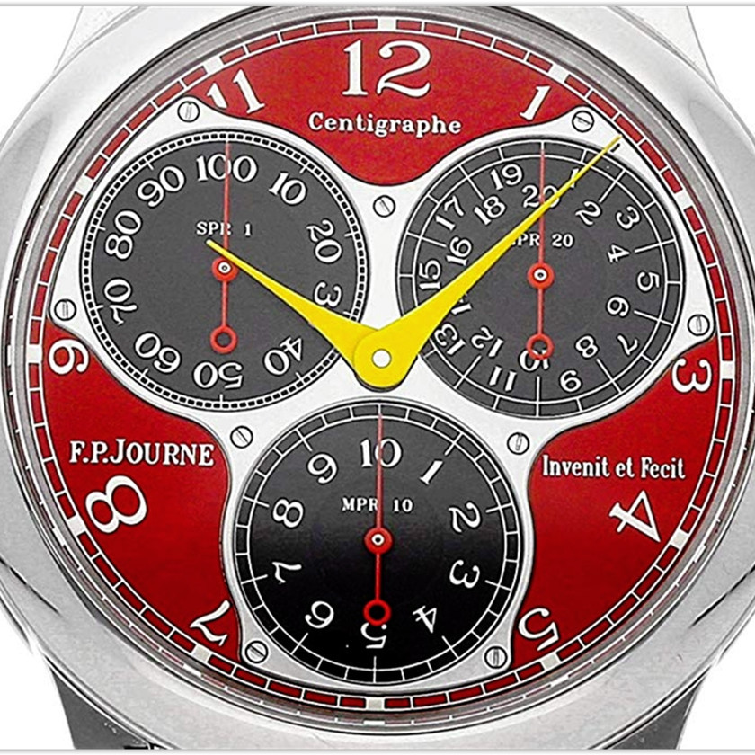 F.P. Journe Centigraphe Mechanical Red Dial Mens Watch Centigraphe Souverain