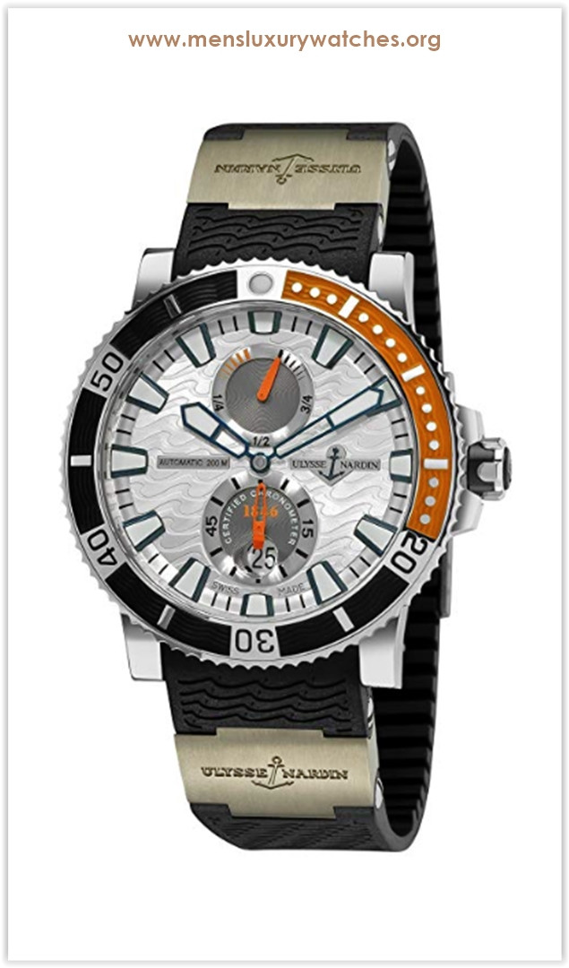 Ulysse Nardin Maxi Marine Diver Titanium Swiss Automatic Rubber Sport Men's Watch the best price
