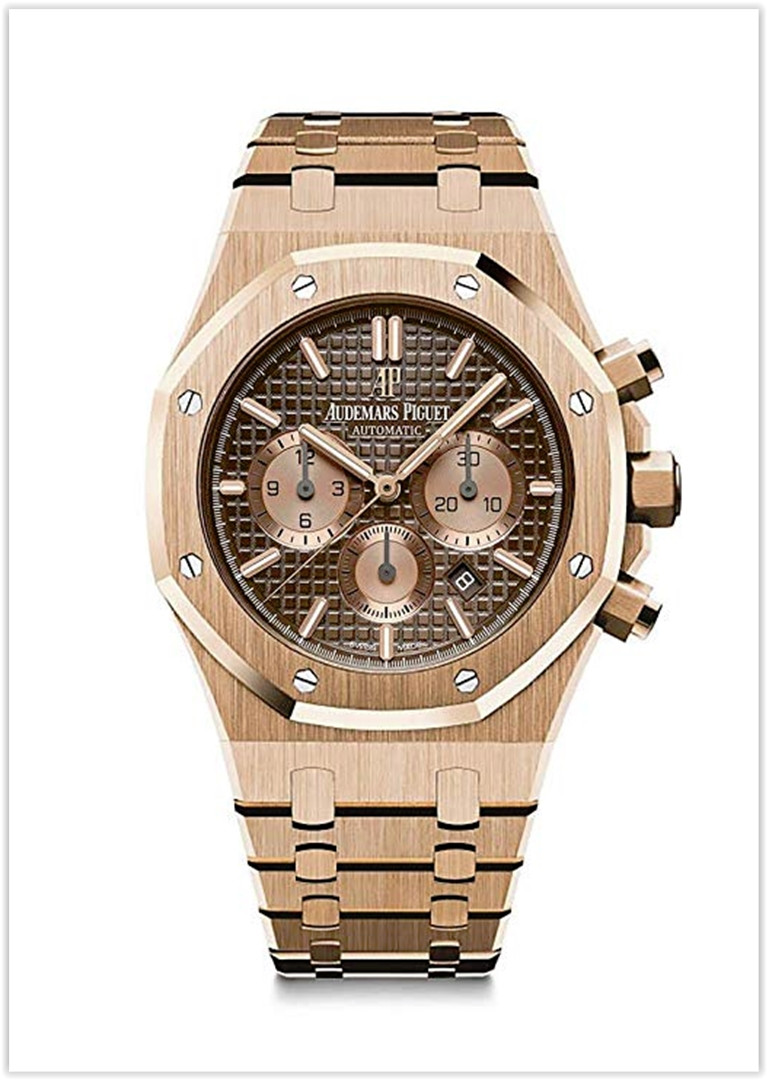 Audemars Piguet AP Royal Oak Chronograph Novelty 41 Rose Gold Brown Dial Men's Watch price