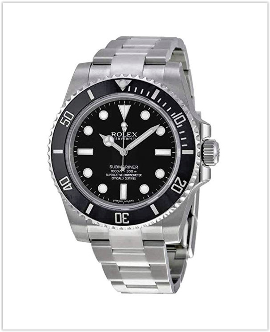 Rolex Submariner Black Dial Stainless Steel Automatic Men's Watch best price