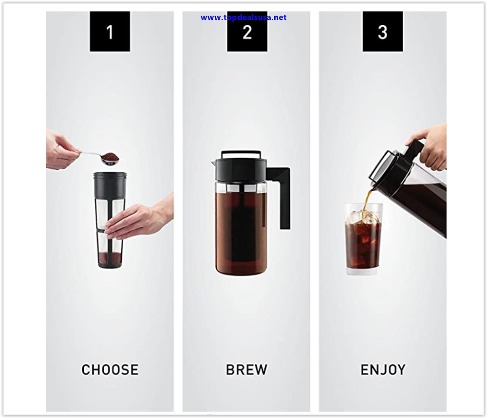 Takeya Patented Deluxe Cold Brew Iced Coffee Maker Deals