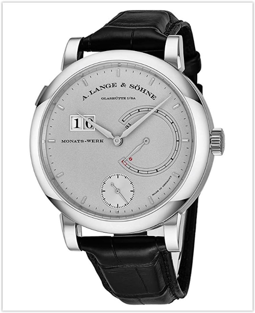 A. Lange & Sohne Lange 31 Mens Platinum Mechanical Men's Watch - 46mm Grey Face best price