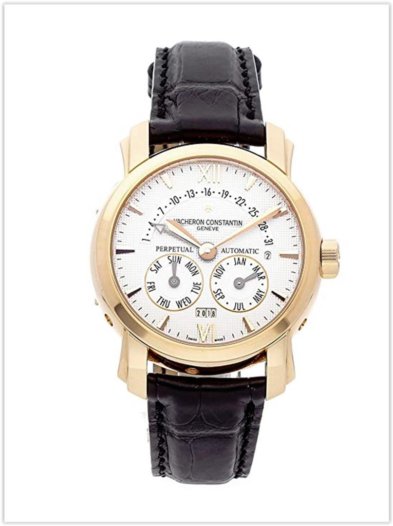 Vacheron Constantin 31-Day Retrograde Perpetual Calendar Mechanical Silver Dial Men's Watch Price