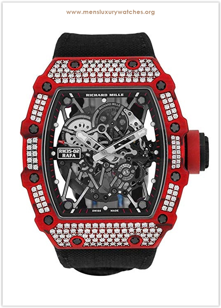 Richard Mille Red Quartz-TPT Diamonds Wa