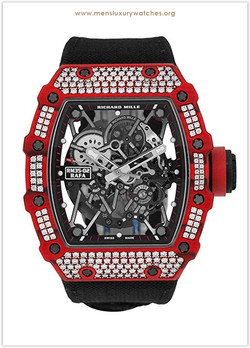 Richard Mille Red Quartz-TPT Diamonds Wa
