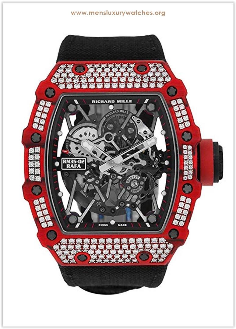 Richard Mille Red Quartz-TPT Diamonds Watch RM35-02