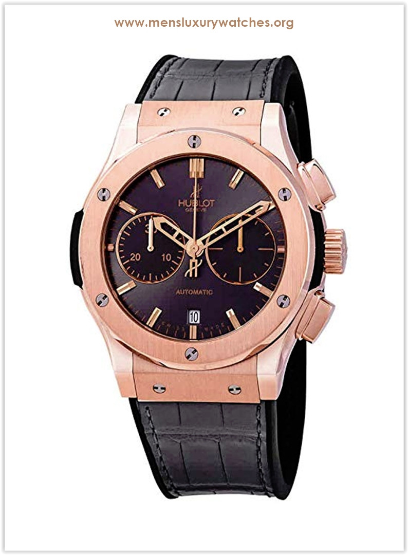 Hublot Classic Fusion Racing Grey Dial Men's Chronograph 18K King Gold Watch Price