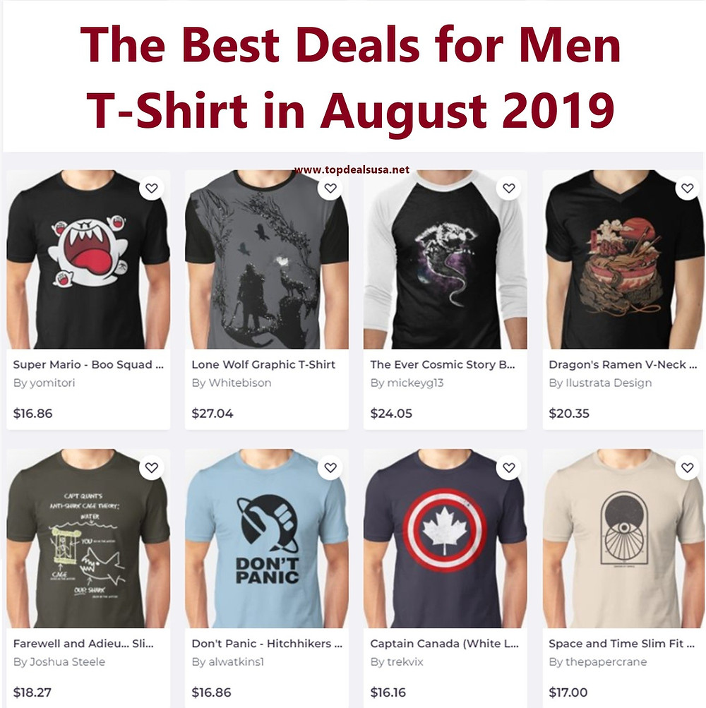 The Best Deals for Men T-Shirt in August 2019