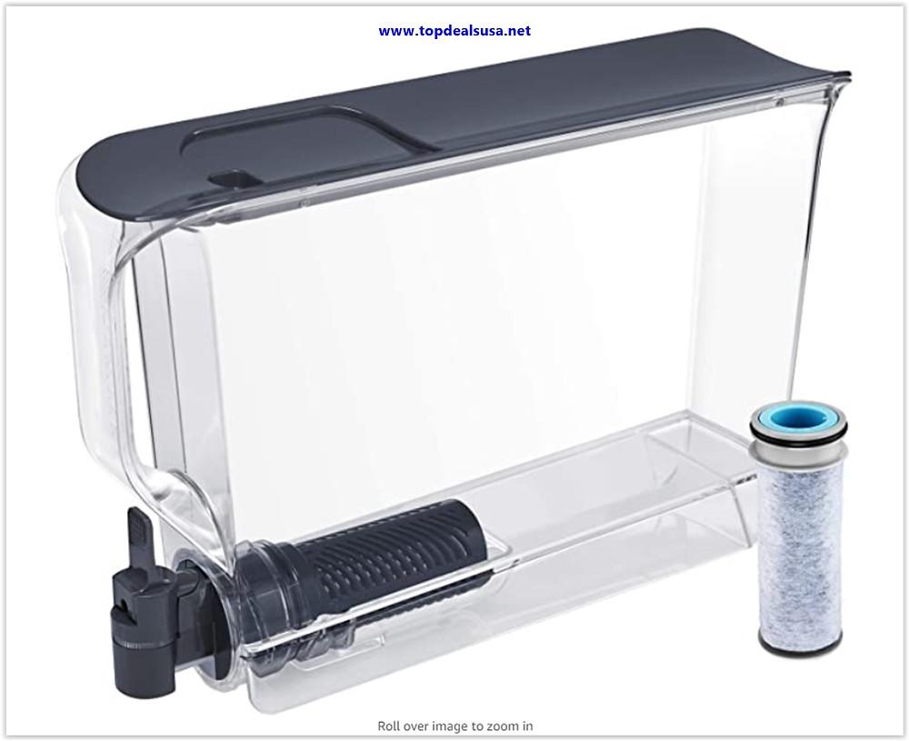 Best Buy Brita UltraSlim Dispenser with 1 Stream Filter-BPA Free, Extra Large 25 Cup, Slate
