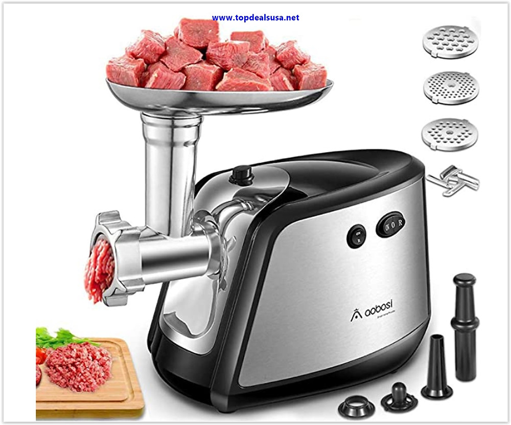 Best Buy Electric Meat Grinder, Aobosi 3-IN-1 Meat Mincer & Sausage Stuffer