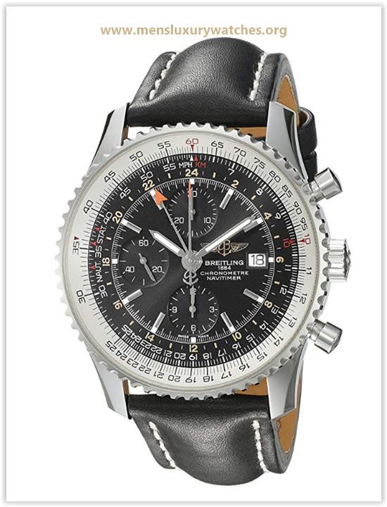 Breitling Men's A2432212B726 BOLT Black Dial Navitimer World Watch Price May 2019