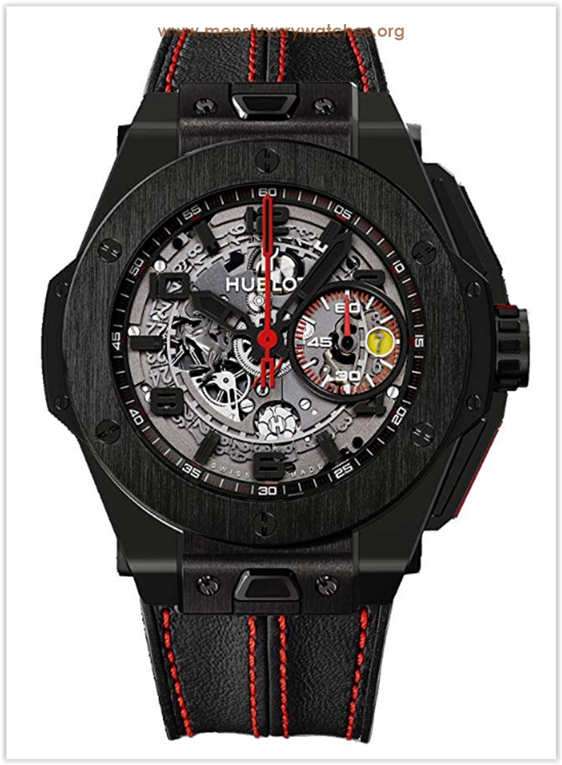 Hublot Ferrari All Black Openwork Dial Black Ceramic Men's Watch Price